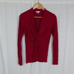 CAbi Red Glamour Tee Twist Front Shirt Style #631